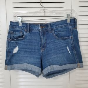 Old navy boyfriend denim shorts size 4